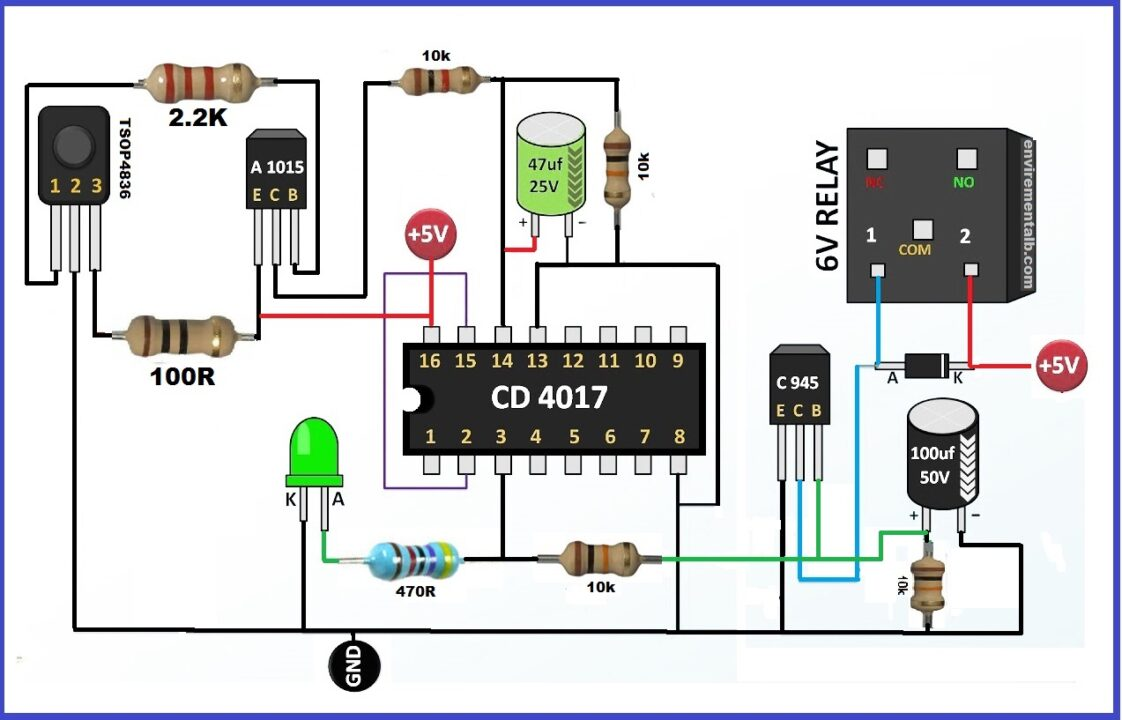 IR Remote Control Circuit Diagram