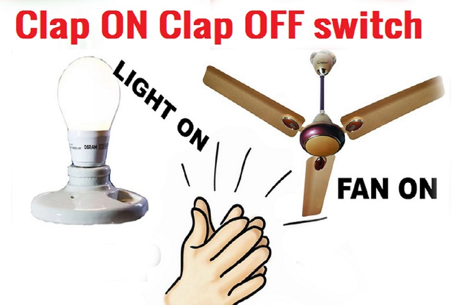 Simple Clap On off switch using 4017 IC