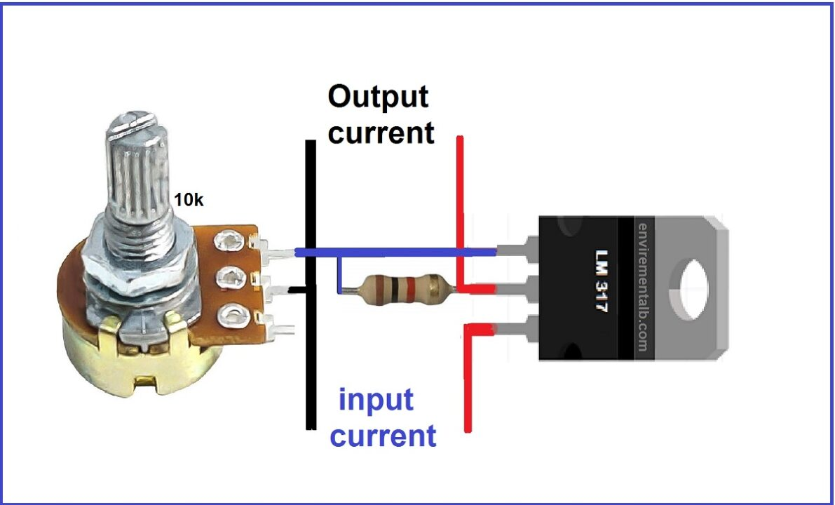 Variable Voltage Power Supply Using LM317