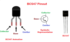 BC547 transistor points