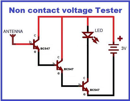Non-Contact-Voltage-Tester-Circuit-Diagram