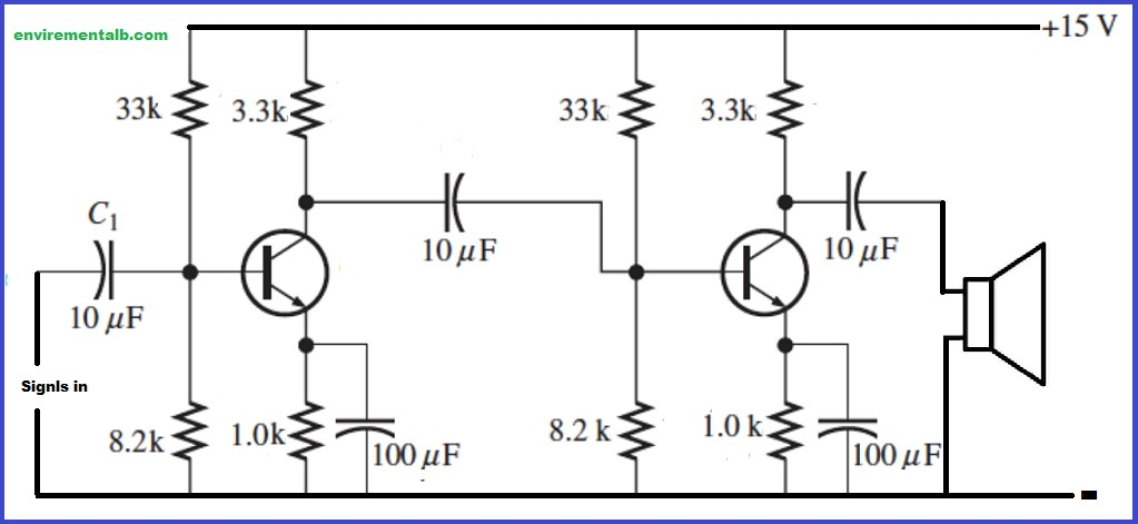 Two-stage RC Coupled Amplifier