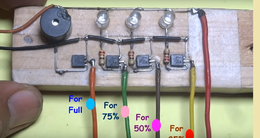 Water Level Indicator using Transistors