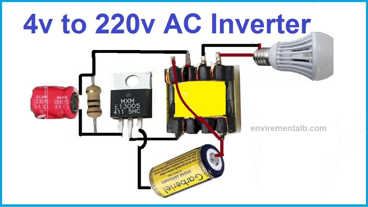 4v to 220v AC inverter