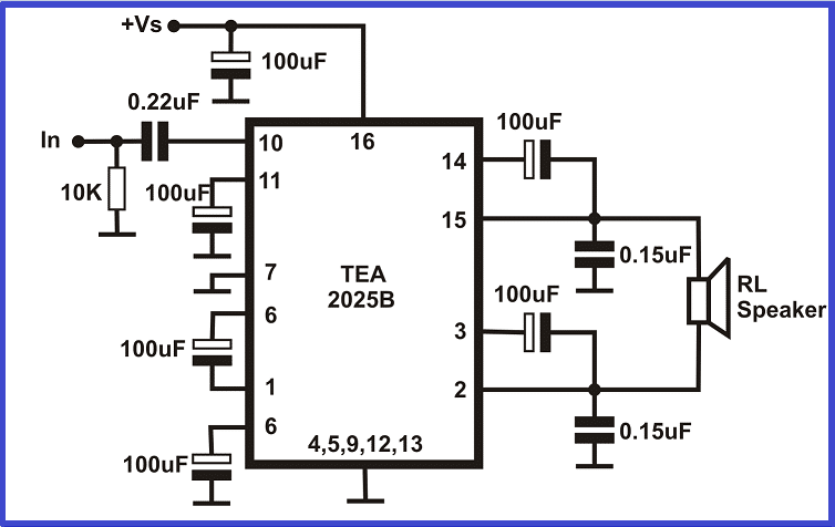 5w Streo Amplifier circuit