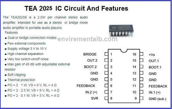 TEA Audio amplifier circuit