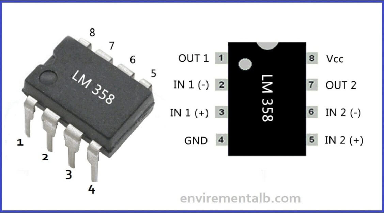 LM358 IC Pinout, Description, Equivalents & Datasheet