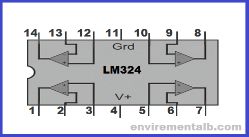 LM 324 amplifier ic