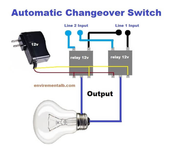 Automatic Changeover Switch Using IC