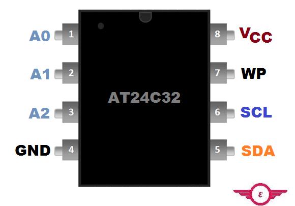 AT24C32 Pinout