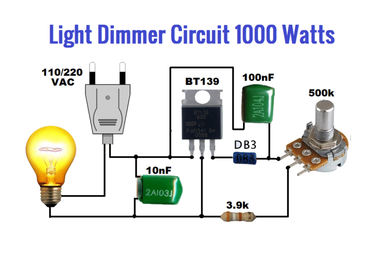 Light Dimmer circuit 1000 watts