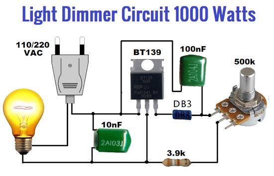 Light Dimmer circuit 1000 watts