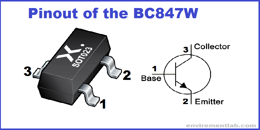 Pinout of the BC847W
