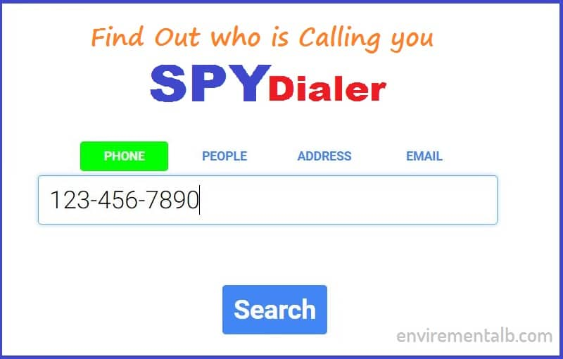 Spy Dialer or reverse lookup numbers
