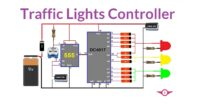 Traffic Lights Controller Using IC555 and CD4017