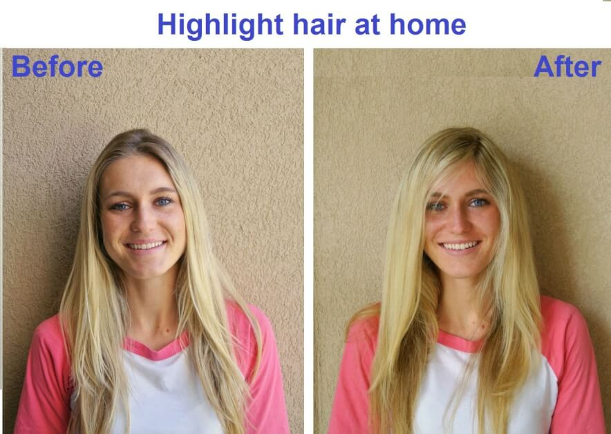 highlight your hair at home