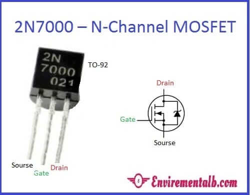 2N7000 MOSFET pin detail
