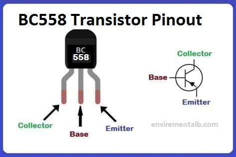 BC558 Transistor Pinout