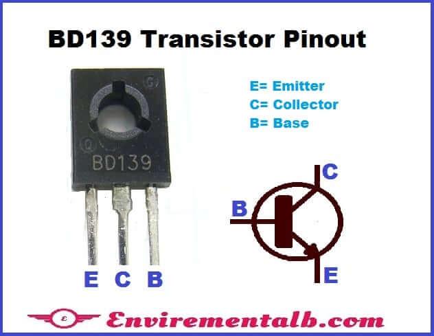 BD139 Transistor Pinout