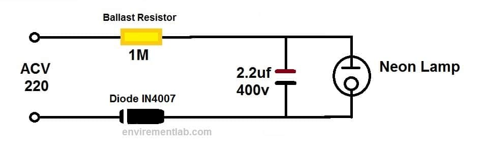 Neon Lamp Flasher Circuit