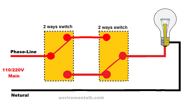 2-way Switch Wiring using Two-wire control