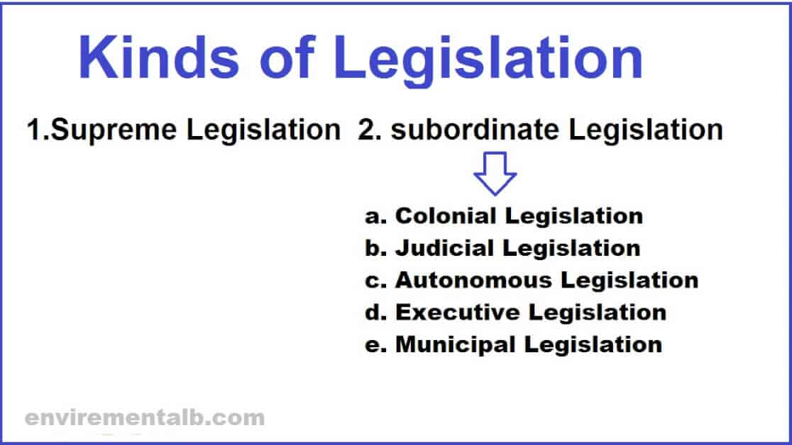 Kinds Of Legislation