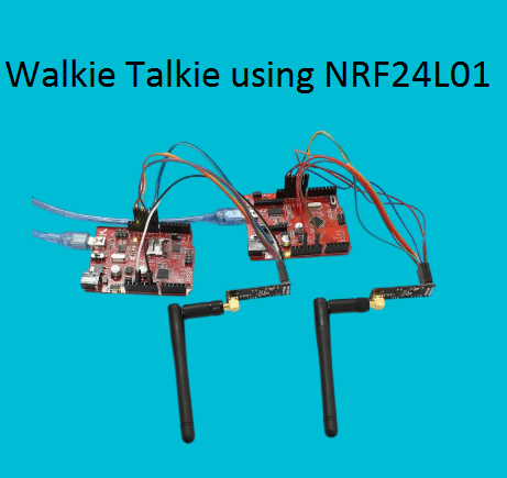 Walkie Talkie using NRF24L01 and arduino